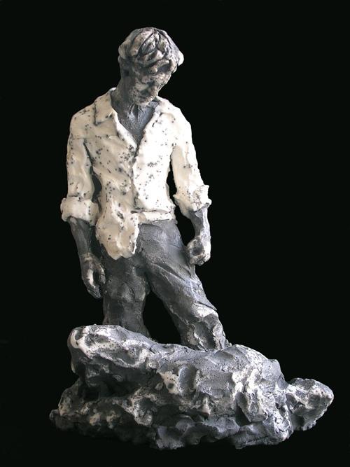 Marco Mariucci - 'Caino' - ceramica raku - 2011