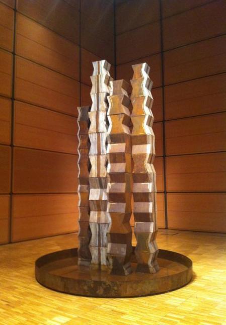 Maria Cristina Carlini, Fantasmi del lago, 2002, tecnica mista su lamiera, cm 280x200