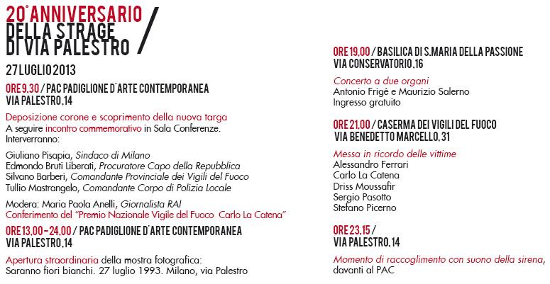 PAC Padiglione d'Arte Contemporanea,  strage di via Palestro - Mostra Fotografica