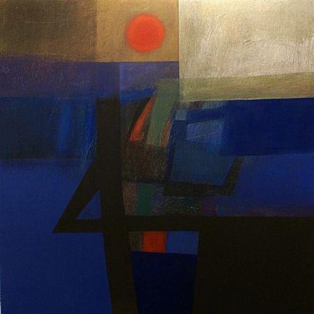 Rino Valido, Dalla finestra, 2013, olio su tela, cm100x100