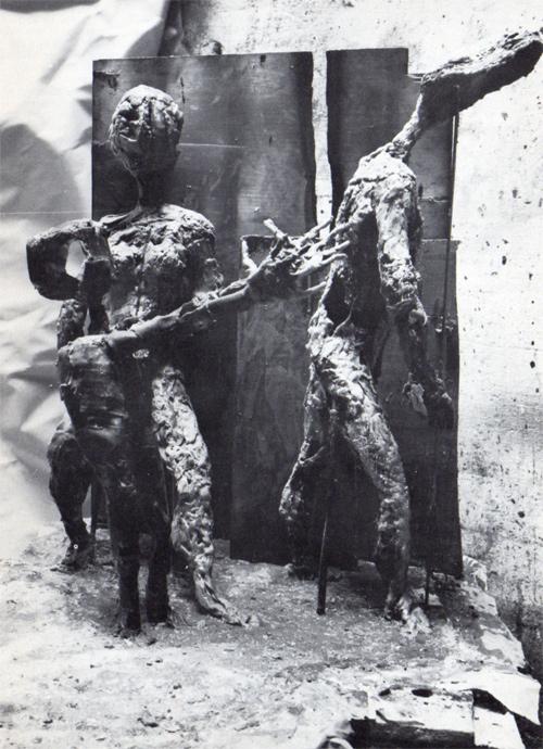 Alik Cavaliere, Scena famigliare in casa B, bronzo, cm 90x105x100, 1961