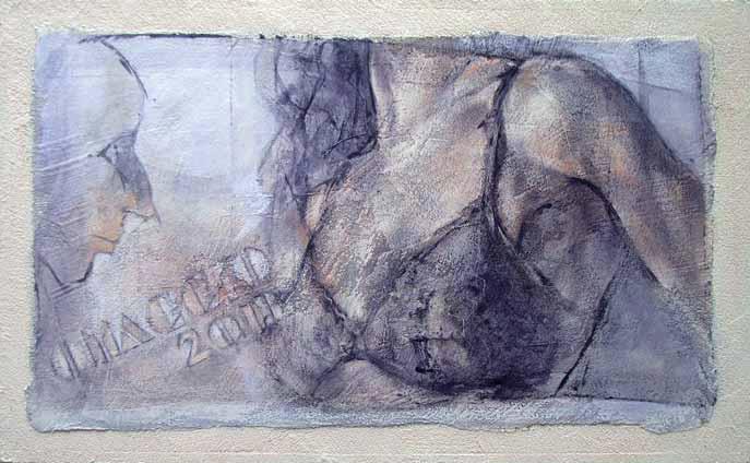 Enrico Lazzini - in omaggio a Tadini - Film, 2013, Acrilico su tavola, cm 32x53