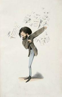 Giuseppe Verdi opere e vita - a Milano mostre eventi concerti per il bicentenario - Caricatura dell'amico Delfico (1860)