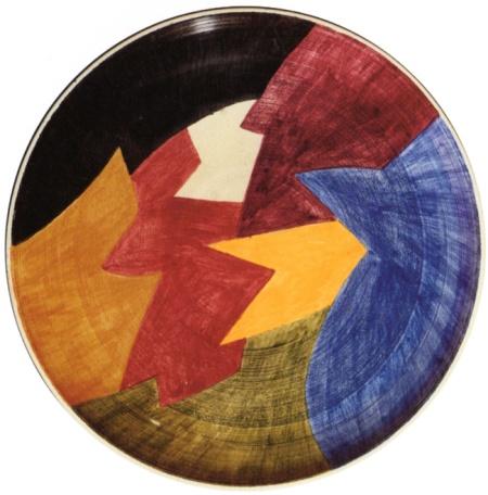 Lorenzelli Arte, Serge Poliakoff - 27. Assiette. pièce unique. 1959, ceramica, diametro cm 34,5