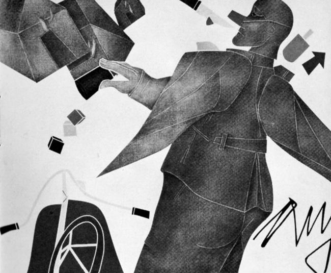 Milano arte - Emilio Tadini, Angelus novus, 1979, cm 81 x 100