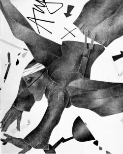 Milano mostre - Emilio Tadini, Angelus novus, 1979, cm 100 x 81