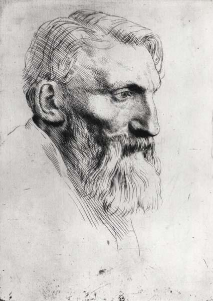 Palazzo Reale Milano mostra RODIN - Auguste Rodin (1840-1917) ritratto da Alphonse Legros (1837-1911)
