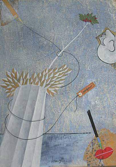 Remo Lorenzetti - in omaggio a Tadini - Sogno, 2013, tecnica mista su carta, cm 50x35
