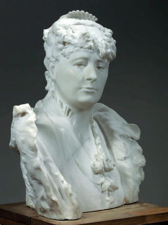 Rodin Milano Palazzo Reale - AUGUSTE RODIN, Busto di M.me Roll («Buste de M.me Roll»), 1882-1883 Marmo, 57,5 x 50,5 x 34,1 cm