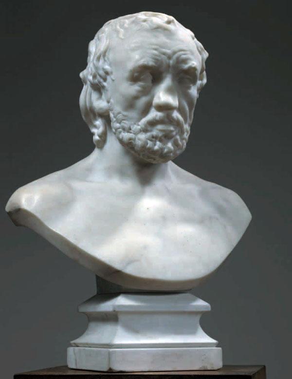 Rodin Milano Palazzo Reale - AUGUSTE RODIN, L'uomo dal naso rotto («L'Homme au nez cassé»), 1874-1875 Marmo, 44,8 x 41,5 x 23,9 cm