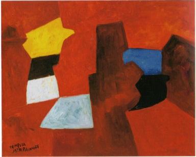 Serge Poliakoff - 25. Composition abstraite, 1966 (1953), tempera su tela, cm 60x73