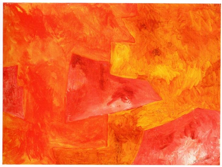 Serge Poliakoff, 7. Composition abstraite, 1960 (1964), gouache sur papier, cm 47x63