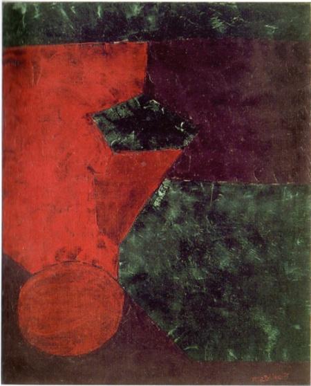 Serge Poliakoff, Composition abstraite, 1954, olio su tela, cm 100x81