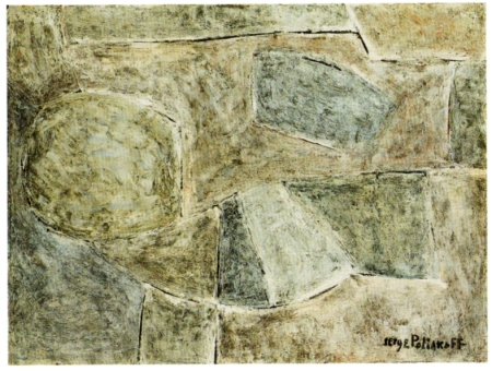 Serge Poliakoff, Composition abstraite, 1956 (1959), olio su tavola, cm 45x60