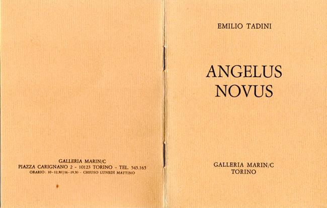 Spazio Tadini archivio mostre - Tadini Angelus Novus, aprile 1979
