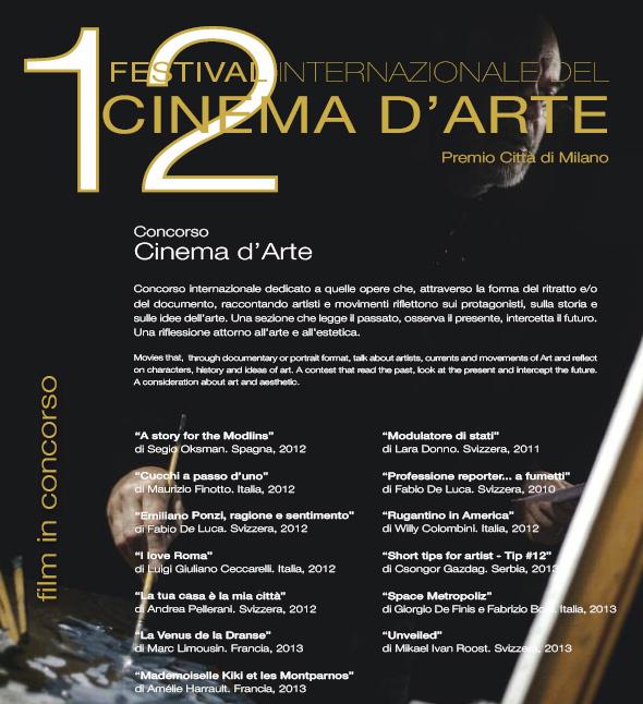 Festival Internazionale del Cinema d'Arte 2013 Palazzo Reale Milano