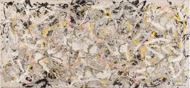 Jackson Pollock, Number 27, 1950, Olio, smalto e pittura di alluminio su tela, 124,6x269,4 cm © Jackson Pollock by SIAE 2013 © Whitney Museum