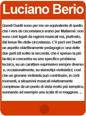 Luciano Berio 34 Duetti per due violini