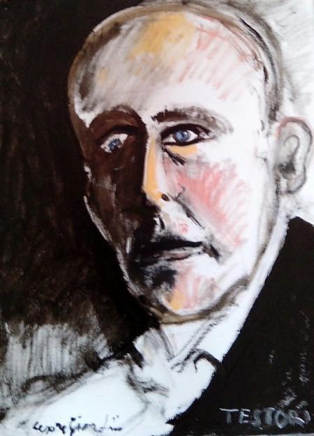 Giovanni Testori ritratto da Cesare Giardini