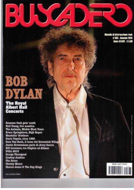 Bob Dylan - cover Buscadero gennaio 2014, foto di Paolo Brillo
