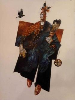 Fumetti mostra Milano, Spazio Tadini - Sergio Toppi, nativo americano