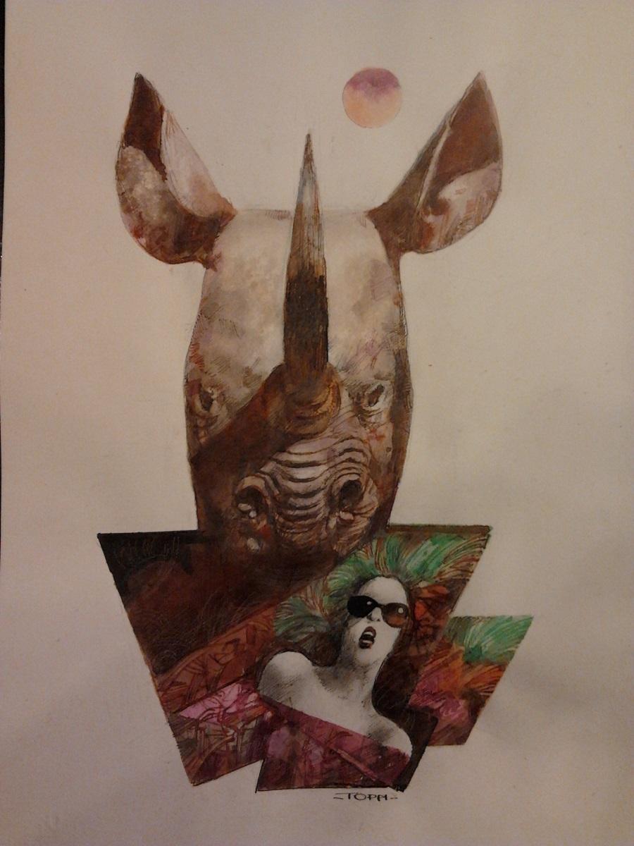 Sergio Toppi, rinoceronte