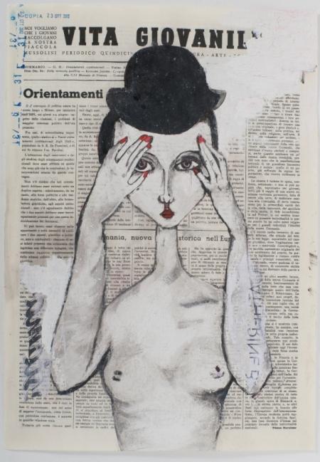 Monica Marioni - it's me! - tecnica mista su periodico   - cm 33x50 - 2012