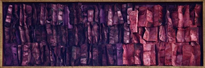 Museo Diocesano Milano, Renata Boero, Germinazione Z cm60x180 sequenza dei fiori di carte