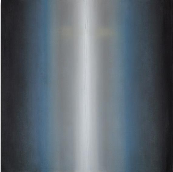 Raffaele Cioffi, alla luce della croce blu scuro cm90x90