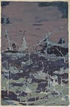 Expo Milano - Agnese Skujina, Luogo 7, acrilico su carta, 75x50cm, 2014