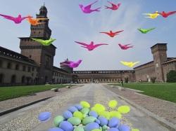 Cracking Art Group Milano NIDO DI RONDINI, Castello Sforzesco