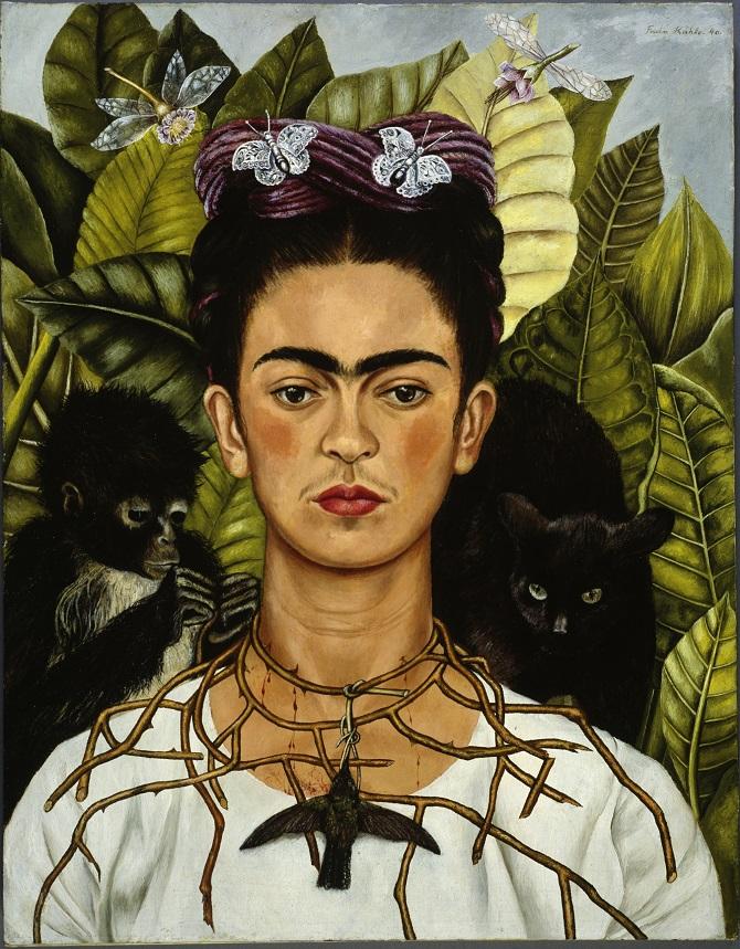 Frida Kahlo ROMA Scuderie del Quirinale - Autoritratto con collana di spine
