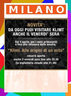 mostra Klimt Milano