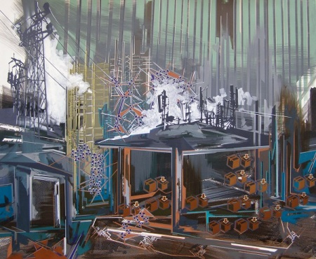 Annalisa Fulvi, Non ci resta altro da fare, 2014, 120x145 cm, acrilico su tela