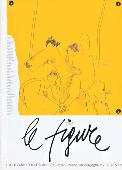 Emilio Tadini, senza titolo- 1965, matita su carta, 73x56cm, Courtesy Collezione Giorgio Marconi