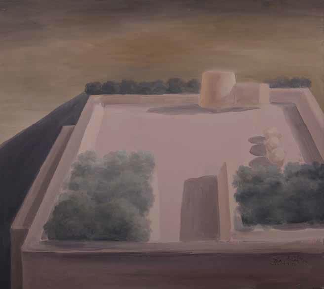 Ercole Pignatelli, Masseria d'estate olio su tela, 67x65cm, Courtesy Galleria Tega
