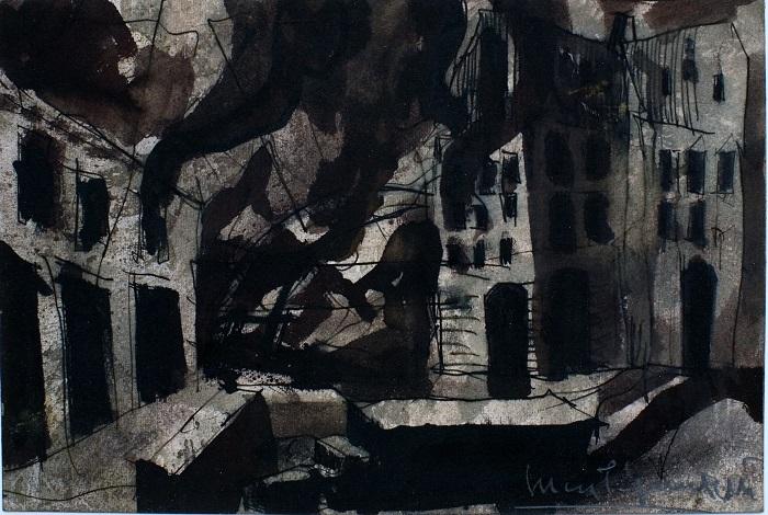 Luca Pignatelli, Senza titolo, 19x28 cm, tecnica mista su carta trattata