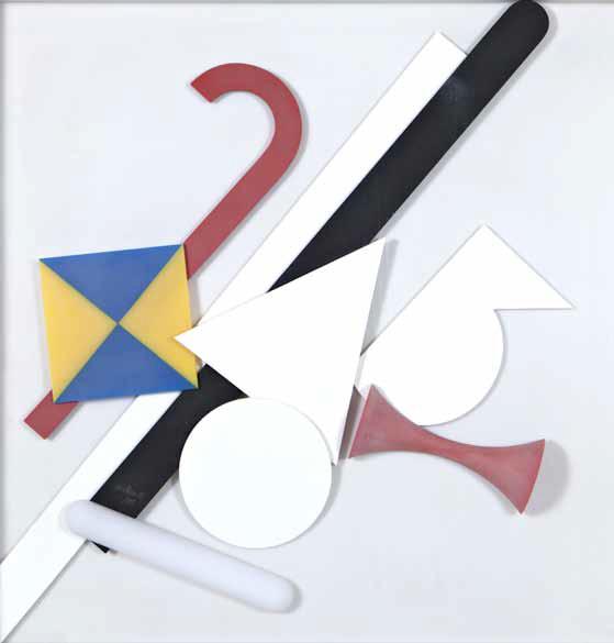 Lucio Del Pezzo, 9 elementi- 1972 metacrilato e perpex, multiplo 1115, 70x70cm, Courtesy Fondazione Mudima