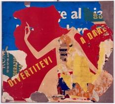 Mimmo Rotella, Divertitevi a dare, 1959-60, décollage su tela, cm 110x100, collezione privata