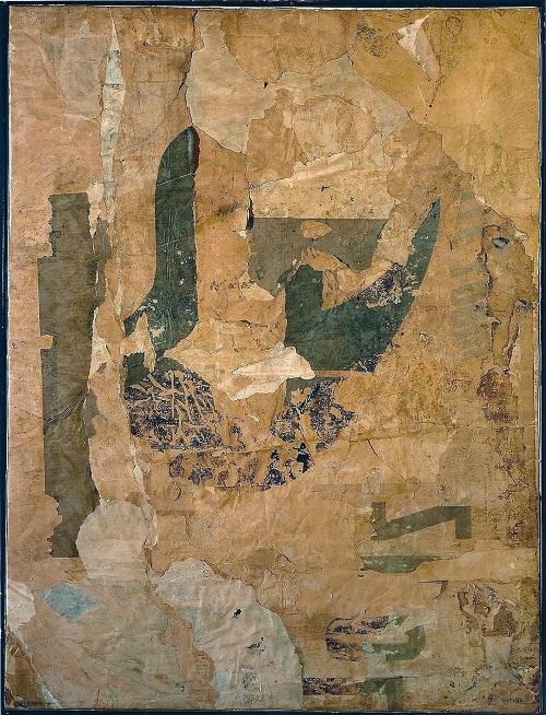 Mimmo Rotella, Not in Venice, 1959, retro d'affiche su tela, cm 95x72, MART - Museo d'arte moderna e contemporanea di Trento e Rovereto, Rovereto