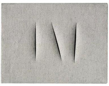 Sotheby's Milano asta - Lucio Fontana, Concetto Spaziale, cm 18x24, 1962