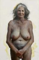 Aleah Chapin, Auntie, 2012, olio su tela, 157.5 x 96.5 cm