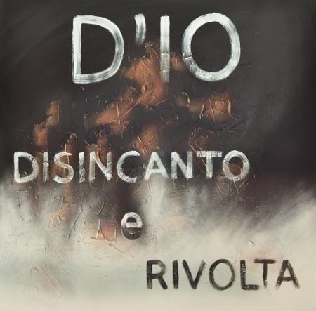 Alessandro Aleotti, D'io disincanto e rivolta, 2014, tecnica mista su tavola, cm 120 x 120