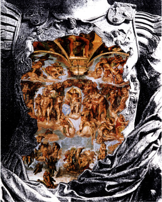 Fondazione Marconi - Adriano Altamira, Giudizio sul giudizio, 1996, tecnica mista su tavola, 200 x 150 cm