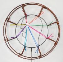 Triennale di Milano - Laura Zeni, Radar, 2014, rame, ferro, corda, Ø cm 30