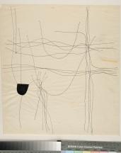 Alberto Burri, Disegno, 1955,Inchiostro su carta, mm 345x315, Fondazione Palazzo Albizzini collezione Burri