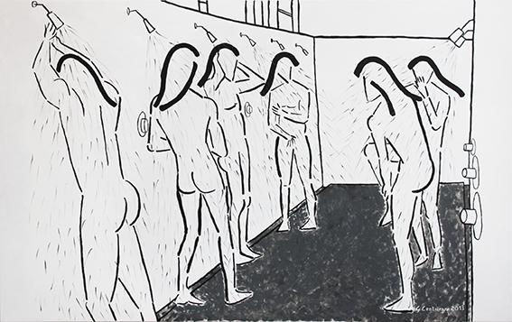 GIANLUCA CENTURANI, Alle docce (2013)