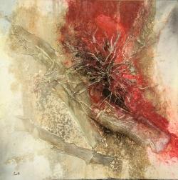 Matteo Lausetti -Roncole di Busseto.. 100-100 tecnica mista su tela -
