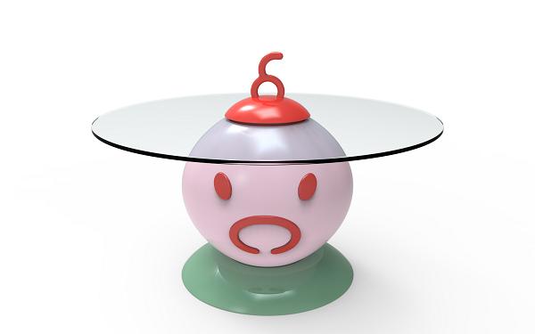 Anna Gili, tavolino PETit TABLE maiale