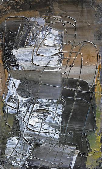 Alfredo Chighine, Composizione, 1964, olio su tela, 50x35 cm